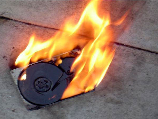 Burned HDD